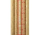 Zöllner Darčekový baliaci papier 70 x 150 cm Vianočný Luxusné s razbou Luxury strieborný Merry Christmas darčeky, stromčeky, snehuliak