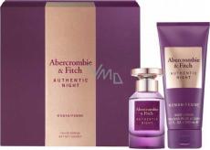 Abercrombie & Fitch Authentic Night Woman toaletná voda pre ženy 50 ml + telové mlieko 200 ml, darčeková sada