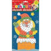 Mozaikový hrací set Vianoce Santa v komíne 23 x 16 cm