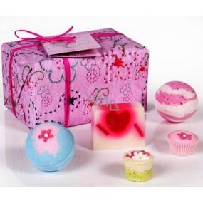 Bomb Cosmetics Ruženka balistik 2 x 160 g + dortíček 30 g + špalíček 30 g + mydlo 100 g, kozmetická sada