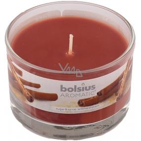 Bolsius Aromatic Sugar & Spice - Cukor a korenia vonná sviečka v skle 90 x 65 mm 247 g doba horenia cca 30 hodín