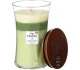 WoodWick Trilogy Garden Oasis - Zahradní oáza vonná svíčka s dřevěným knotem a víčkem sklo velká 609,5 g