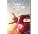Albi Hrací přání do obálky K narozeninám Bezstarostná jízda v autě I got You (I feel good) 14,8 x 21 cm