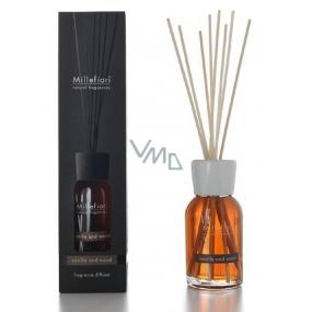 Millefiori Natural Vanilla & Wood - Vanilka a dřevo Difuzér 7 stébel v délce 25 cm do menších prostor vydrží 5-6 týdnů 100 ml