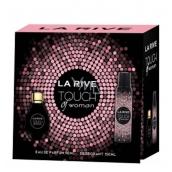 La Rive Touch of Woman toaletná voda 90 ml + dezodorant sprej 150 ml, darčeková sada