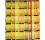 Ditipo Stuha látková s drôtikom žltá neón 4 mx 15 mm