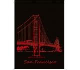 Ditipo Zošit City Gold Collection A4 linajkový San Francisco 21 x 29,5 cm 3421002