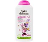 Corine de Farmu Disney Minnie Mouse 2v1 šampón na vlasy a sprchový gél pre deti 250 ml
