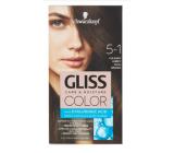 Schwarzkopf Gliss Color farba na vlasy 5-1 Chladný hnedý 2 x 60 ml
