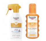 Eucerin Sun Sensitive Protect SPF 50 sprej na opaľovanie 200 ml + SPF30 transparentné sprej pre deti 200 ml