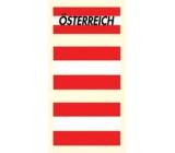 Arch Tetovací obtisky na obličej i tělo Rakouská vlajka 3 motiv