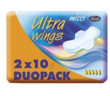 Micca Ultra Wings intímne vložky s krídelkami Duo 2 x 10 kusov
