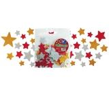 Samolepící dekorační glitrové hvězdičky z EVA pěny 20 ks