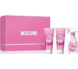 Moschino Fresh Couture Pink toaletní voda pro ženy 50 ml + sprchový gel 50 ml + tělové mléko 50 ml, dárková sada