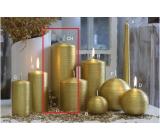 Lima Alfa sviečka zlatá valec 80 x 200 mm 1 kus