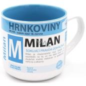 Nekupto Hrnkoviny Hrnček s menom Milan 0,4 litra