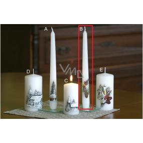 Lima Relief zimné šišky sviečka biela kužeľ 22 x 250 mm 1 kus