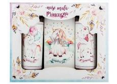 Bohemia Gifts & Cosmetics Jednorožec sprchový gél 100 ml + šampón na vlasy 100 + soľ do kúpeľa 110 g pre deti kozmetická sada
