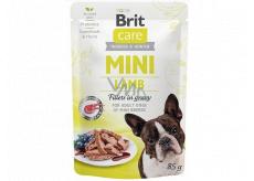 Brit Care Mini Lamb Fillets In Gravy kompletné superprémiové krmivo pre dospelé psy mini plemien kapsička 85 g