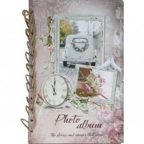 Ditipo Fotoalbum Retro rámček s autom a svadobné kyticou B4 24 x 34 cm
