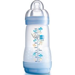 Mam Anti-Colic antikoliková fľaša na kŕmenie, silikónová jemná cumlík rôzne farby 2+ mesiacov 260 ml