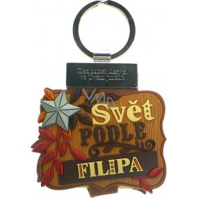 Albi Knížka se jménem na klíče Svět podle Filipa 6 x 9,5 cm