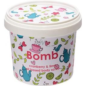 Bomb Cosmetics Brusnica a limetka - Cranberry and Lime Prírodné sprchový telový peeling 365 ml