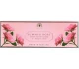 English Soap Letní Růže Přírodní parfémované mýdlo s bambuckým máslem 3x100g