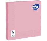 Aha Papierové obrúsky jednofarebné 3 vrstvové 33 x 33 cm 20 kusov ružové