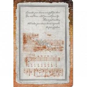 Ditipo Denník Antique notová osnova A5 15 x 21 cm