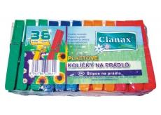 Clanax barevné plastové kolíčky na prádlo 36 kusů