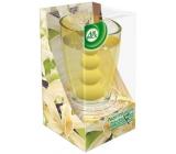 Air Wick Pearl Infusions Vanilková vůně Vánoc vonná gelová svíčka ve skle 120 g