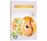 BISPOL Aura Mandarin Flower - Kvety mandarínky vonné čajové sviečky 6 kusov