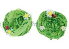 Hniezda z lyka zelená 7 cm 2 kusy