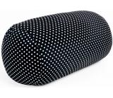 Albi Relaxační polštář Černý s puntíky 33 x 16 cm