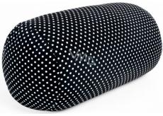 Albi Relaxačný vankúš Čierny s bodkami 33 x 16 cm