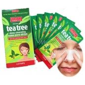 Beauty Formulas Tea Tree pásky na nos 6 kusů