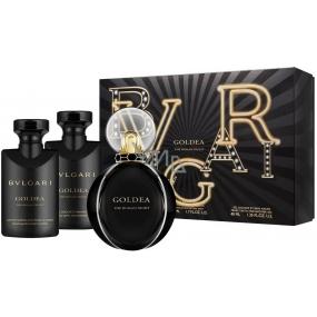 Bvlgari Goldea the Roman Night parfémovaná voda pro ženy 50 ml + tělové mléko 40 + sprchový gel 40 ml, dárková sada