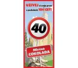 Bohemia Gifts & Cosmetics Mléčná čokoláda Vše nejlepší 40, dárková 100 g