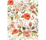 Nekupto Darčeková papierová taška 18 x 23 x 10 cm Kvety 1874 02 ÚFM