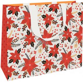 Nekupto Darčeková papierová taška luxusné 30 x 23 cm Vianočná hviezda WLFL 1996