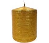 Lima Alfa sviečka zlatá valec 80 x 120 mm 1 kus