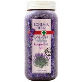Bohemia Herbs Lavender s bylinnými extrakty regenerační koupelová sůl 900 g