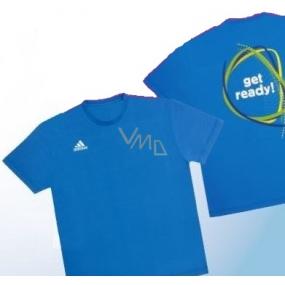 DÁREK Adidas tričko velikost L modré pro muže 1 kus