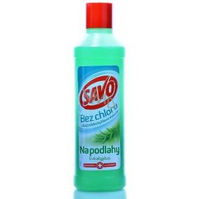 Savo Eukalyptus bez chlóru tekutý čistiaci a dezinfekciou prípravok na podlahy 1 l