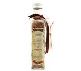 Bohemia Gifts & Cosmetics Skořice a Akát Bylinná koupelová sůl s afrodiziakální vůní s filtračním sáčkem 260 g skleněný obal