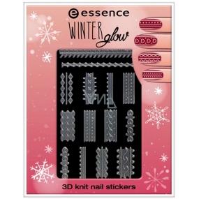 Essence Winter Glow 3D Knit nálepky na nechty 01 Cold Hands, Warm Hearts 1 aršík
