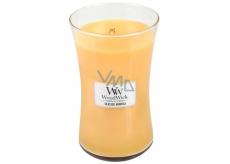 Woodwick Seaside Mimosa - Mimóza na pobreží vonná sviečka s dreveným knôtom a viečkom sklo veľká 609,5 g