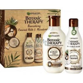 Garnier Botanic Therapy Coco Milk & Macadamia šampón na vlasy 250 ml + maska pre suché a hrubé vlasy 250 ml, kozmetická sada