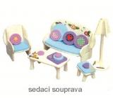 Mini Dream Home Drevené puzzle nábytok snov 01 sedacia súprava 20 x 15 cm